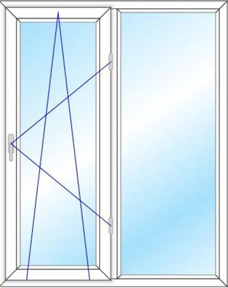 پنجره دو لنگه دو حالته مدل 2