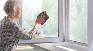 Clean upvc window framework