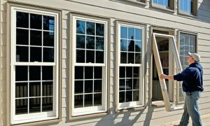 Replacing windows with upvc windows