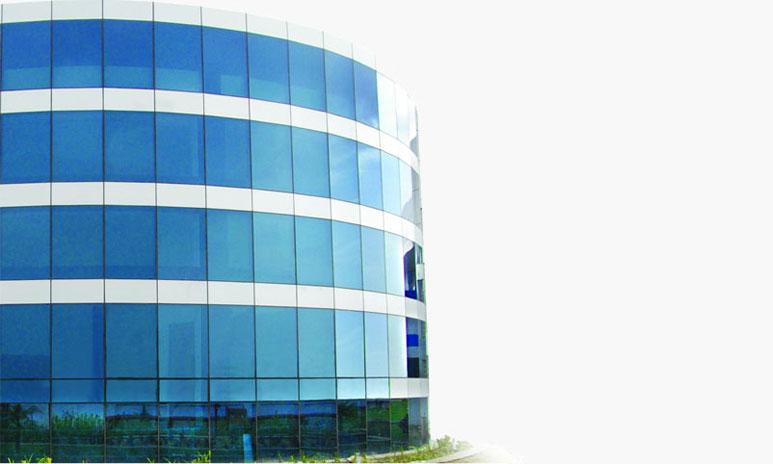UPVC windows in glass facades