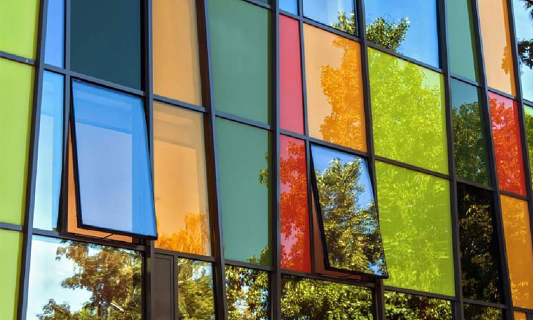 Color selection of PVC window glass