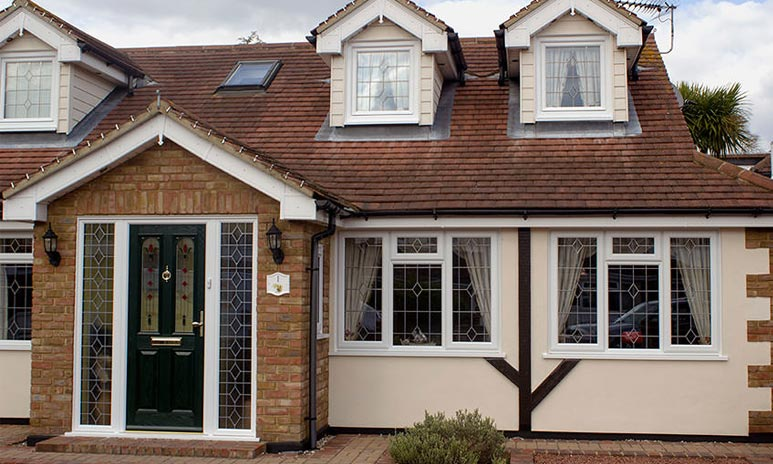 Upvc double storey architecture and window