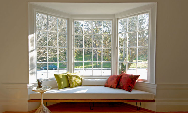 Use the space next to the double-glazed window